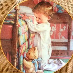 Danbury Mint Bedtime Prayers plate